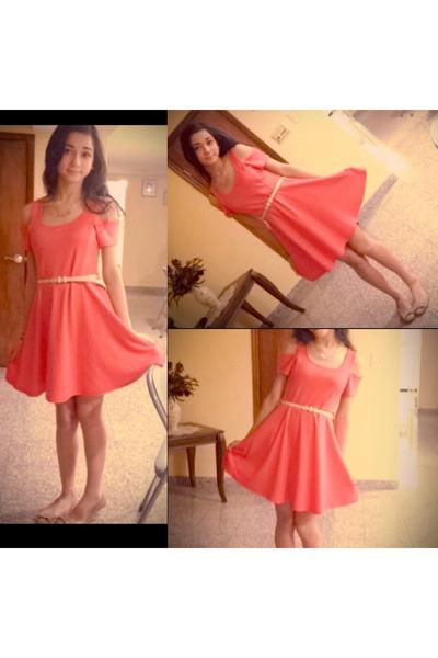salmon Edge dress