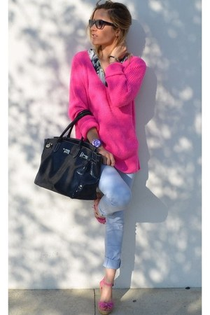 Zara sweater - Celine sunglasses
