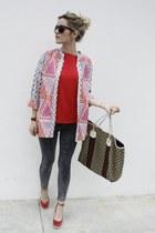 H&M jacket - Gucci bag - Celine sunglasses - H&M top - TODs heels - Hermes watch