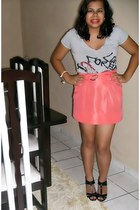 Dog Leg skirt - blouse - Top Vision shoes