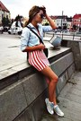Striped-h-m-dress-denim-zara-shirt-h-m-bag