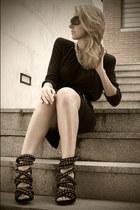 black Bimba&Lola blouse - black Caractere skirt - black Roberto Verino belt - bl