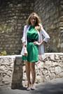 Chartreuse-silk-dress-zara-dress-white-white-blazer-zara-blazer-black-zara-b
