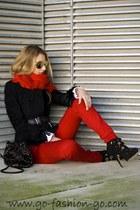 Felipe Varela jacket - Bimba&Lola scarf - Mykita sunglasses - Giuseppe Zanotti h