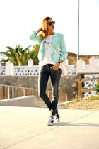 Sheinside jacket - Bershka jeans - PERSUNMALL bag - abaday t-shirt