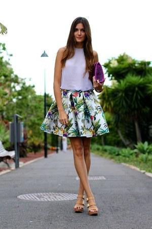 Choies skirt - pull&bear heels - Zara blouse