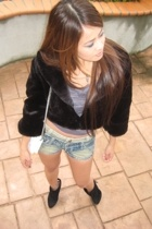 Forever21 jacket - Lux top - Anonymous shorts