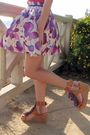 Red-la-made-shirt-purple-forever-21-skirt-brown-mari-janes-shoes