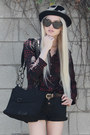 Barneys-coop-boots-black-ca4la-hat-vintage-bag-levis-shorts