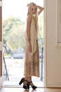 Off-white-silk-ever-vest-light-pink-pleated-skirt-vintage-skirt