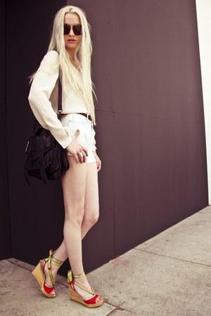 PROENZA SCHOULER bag - vintage shorts - Urban Outfitters blouse - Sigerson Morri