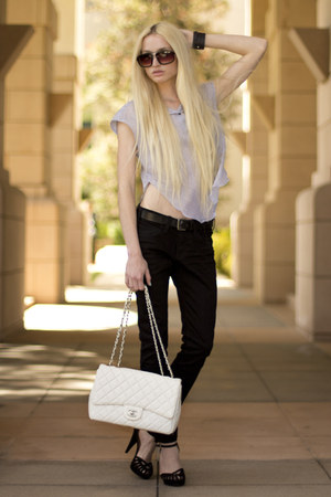 Dog Eared necklace - Current Elliot jeans - Chanel bag - Theyskens Theory blouse