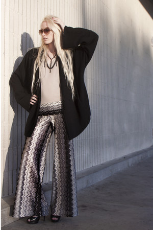 flair Karina Grimaldi pants - wool ever coat - Alexander Wang top
