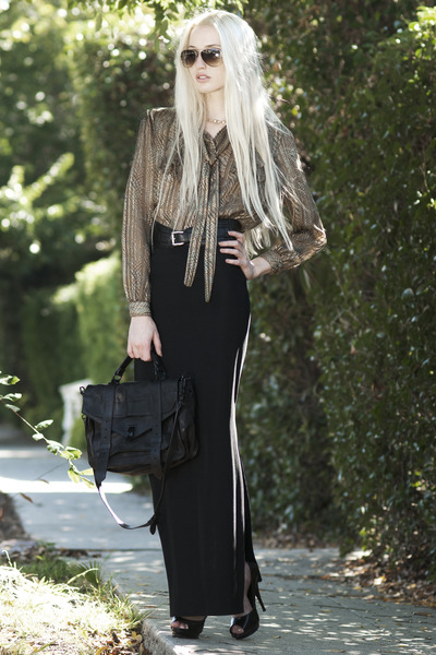 vintage blouse - PROENZA SCHOULER bag - Mosely Tribes sunglasses - Aldo heels