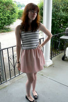 gray Express top - pink Urban Outfitters dress - black Steve Madden shoes