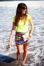 Yellow-red-soul-t-shirt-sky-blue-love-and-lies-skirt