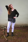 Black-salemio-shirt-blue-h-m-jeans-black-frye-boots-silver-frever-21-brace