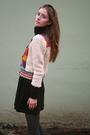 Beige-h-m-sweater-black-american-apparel-dress-gray-tights