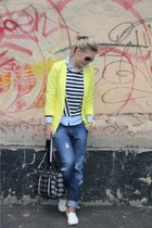 New Yorker jacket - boyfriend jeans isatis jeans - Zara shirt - Bracciallini bag