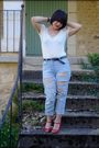 H-m-top-h-m-jeans-andre-shoes-vintage-necklace-vintage-accessories