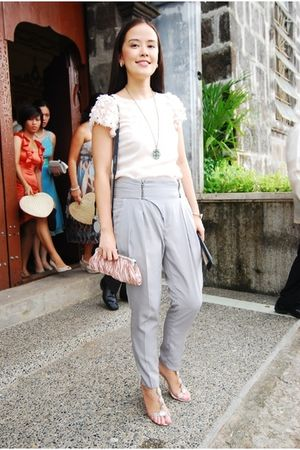 warehouse top - Zara pants - Enzo Angiolini shoes