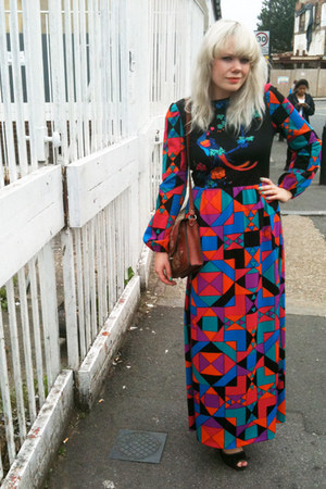 hot pink bird print maxi The Attic People dress