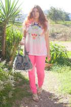 H&M jeans - H&M t-shirt - porronet sandals