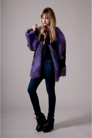 deep purple vintage from Market Publique coat