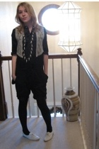 Target dress - vintage vest - vintage accessories - Simply Vera Vera Wang tights