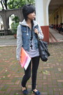 Denim-forever-21-jacket-black-dorothy-perkins-bag-black-zara-pants