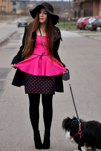 hot pink peplum blouse