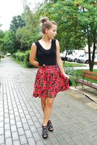 red new look dress - black Eurosko from Norway boots