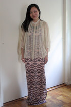 white sheer blouse As Know As de Base shirt - pink maxi dress free people dress