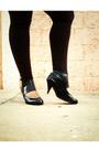 Blue-pima-cotton-dress-white-blouse-brown-leggings-black-shoes-blue-dos-
