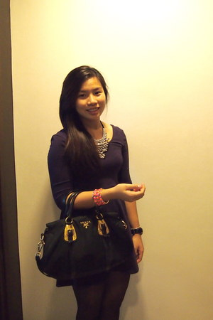 Kenneth Cole watch - Prada bag - Forever 21 bracelet - H&amp;M necklace