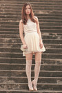 Cream-topshop-dress-ivory-zara-skirt