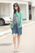 light blue Chicwish glasses - blue ianywear dress