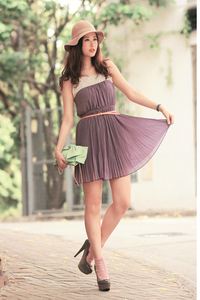 heather gray sugarfree shoes heels - light purple ianywear dress