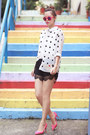 White-front-row-shop-shirt-black-romwe-shorts