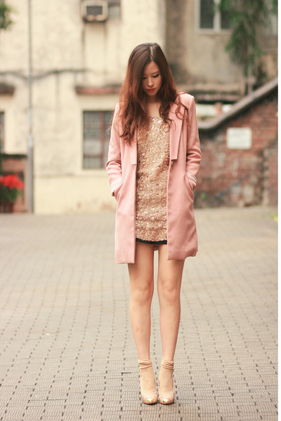 gold Chicwish dress - pink from laurustinus blazer