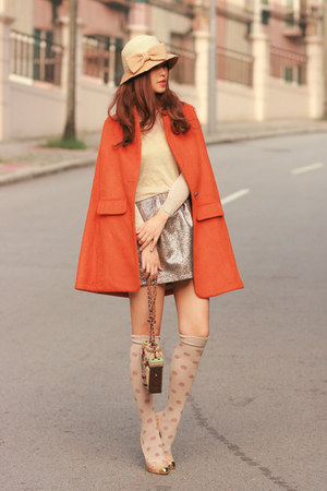 heels - skirt - cape