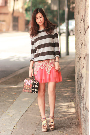 bubble gum GOTTA skirt - beige becky bloomwoods wardrobe dress