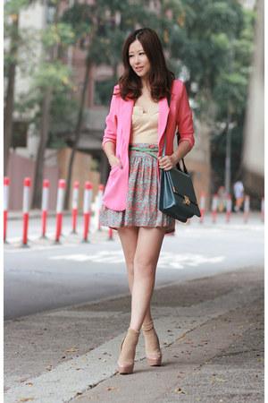 cream Club Couture dress - bubble gum Anna Rose blazer - teal from laurustinus b