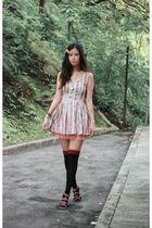 pink smork dress