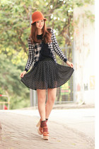 navy Chicwish skirt - navy 6ixty8ight cardigan