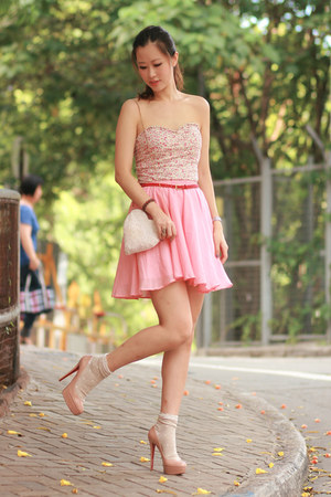 bubble gum becky bloomwoods wardrobe skirt - light pink Pull & Bear intimate