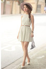 Light-blue-klarra-dress-peach-charlotte-olympia-heels