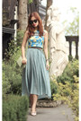 Sky-blue-stylenanda-dress-lime-green-celine-bag-aquamarine-romwe-vest