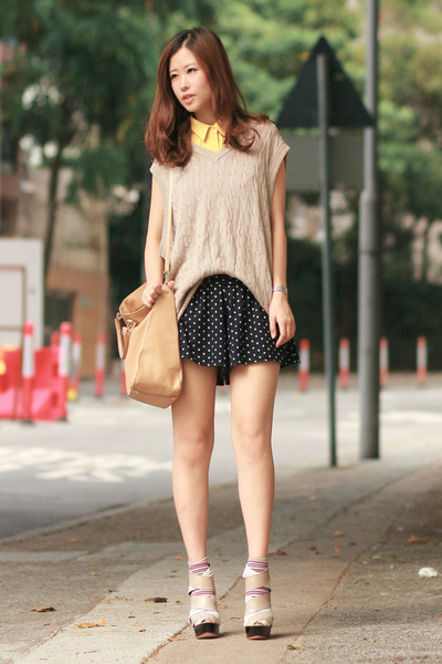 yellow nymph from laurustinus shirt - beige Fendi bag - white Finsk wedges