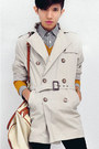 Dark-brown-slip-on-giogio-armani-shoes-beige-trench-coat-zara-coat